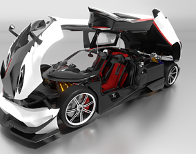 3D model animated Pagani Huayra BC
