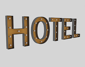 3D Hotel Sign With Bulb