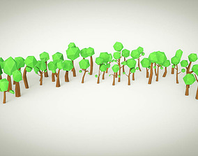 3D model Cartoon Tree Forest Pack