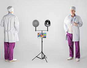 Man in medical uniform smiling 189 3D asset