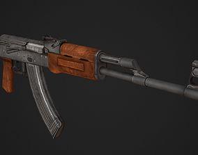 AK 47 Low Poly 3D asset