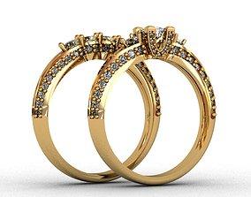 Diamond Ring 3D print model silver jewelery