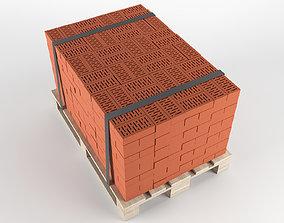 Brick on pallet 3D model handling