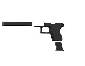 Glock 26 inspired 3d model design