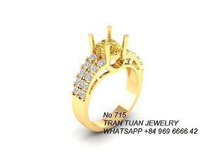 715 Diamond Ring 3D print model women