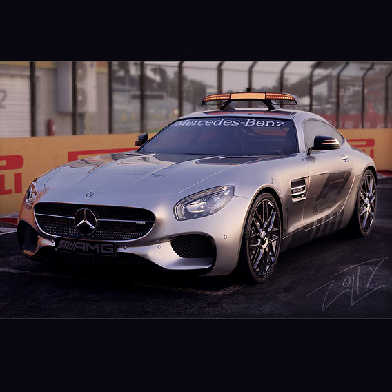 Mercedes-Benz AMG GTS safety car