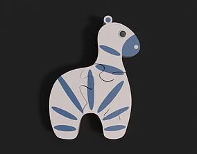 3D model Zebra puzzle