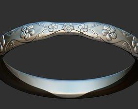 printable 3D print model flower Ring