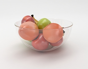 3D bowl with fruit