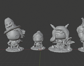 Dungeon Doodz Delving pack 3D print model