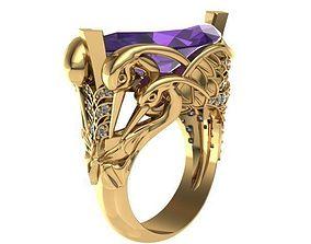 3D printable model swan ring
