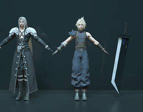 Final Fantasy 7 Remake Collection 3D model