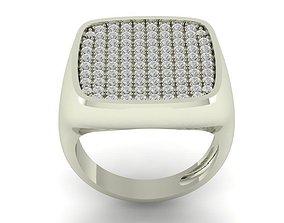 3D print model pave wedding ring