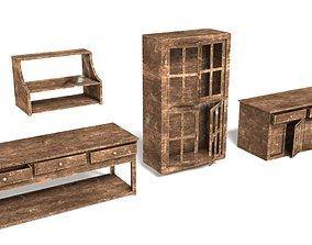 3D asset realtime Old Wooden Furniture
