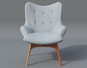 Featherston Chair Low Poly 3D model