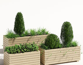 Pine planter 2 3D model