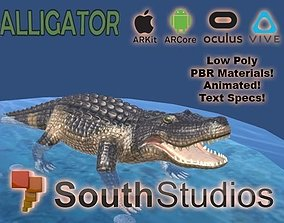 Animated Alligator AR VR Unity 3dsmax animated