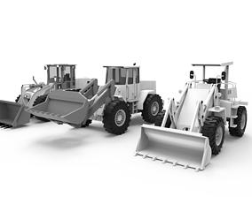 Excavator Loader 3D