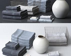 Bathroom Towel Set 3D model