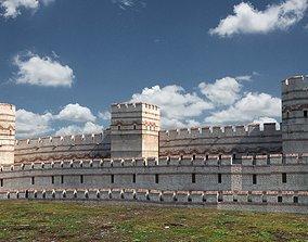 3D model defence Byzantium rampart - istanbul surlar