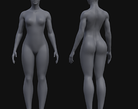 Female Model low-poly