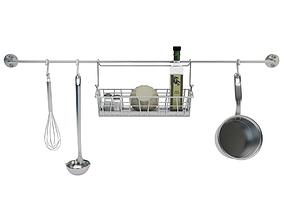 Utensils and Food 3D model
