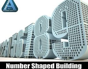 3D model Number Buildings