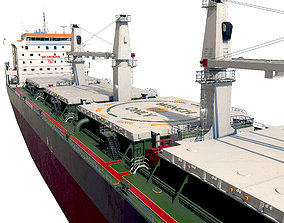 3D Bulk carrier with holds and reservoirs