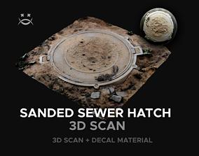 3D model Sanded sewer hatch