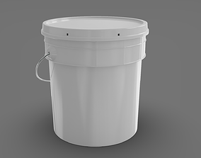Plastic Paint Bucket 3D model