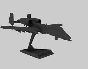 STL A-10 Thunderbolt II 3D print model