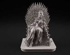 Sansa on the throne 3D printable model