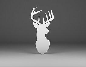 Deer silhouette 3D print model