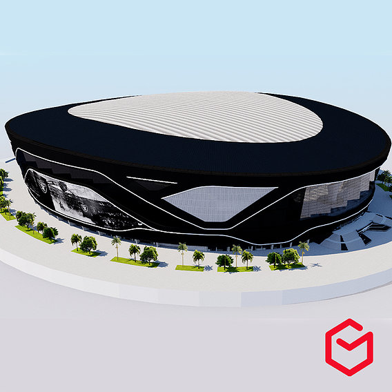Allegiant Stadium - Las Vegas Riders USA 3D model