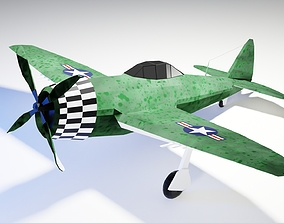 Thunderbird P-47 Aicraft Low Poly 3D model