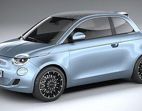3D model Fiat 500 la Prima 2021