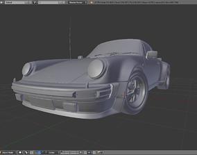 1975 Porsche 911 930 Turbo 3D model