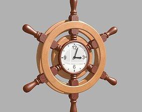 living-room 3D model Wall Clock