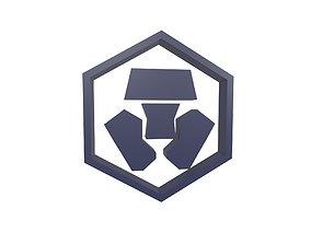 Crypto Com Coin v1 003 3D asset