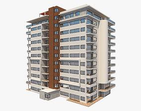 3D model low-poly Apartment Building 6