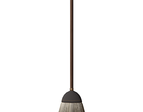 3D asset Stylized broom