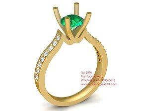 2098 Diamond Ring 3D print model