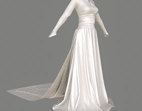 3D PBR wedding Wedding Dress