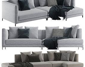 Minotti allen corner sofa 3D