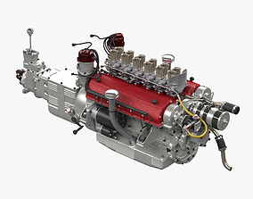 3D Ferrari Colombo 250TR Engine - 3 liter
