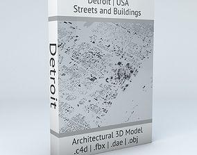 Detroit Streets and Buildings 3D model