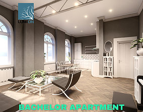 Bachelor Studio Apartment Scene - Lumion 3D