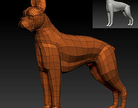 game-ready 3D BOXER DOG