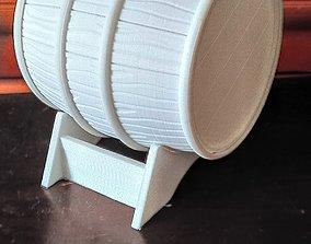 Wine barrel 3D printable model