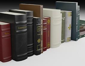 Antique Books PBR 3D model education